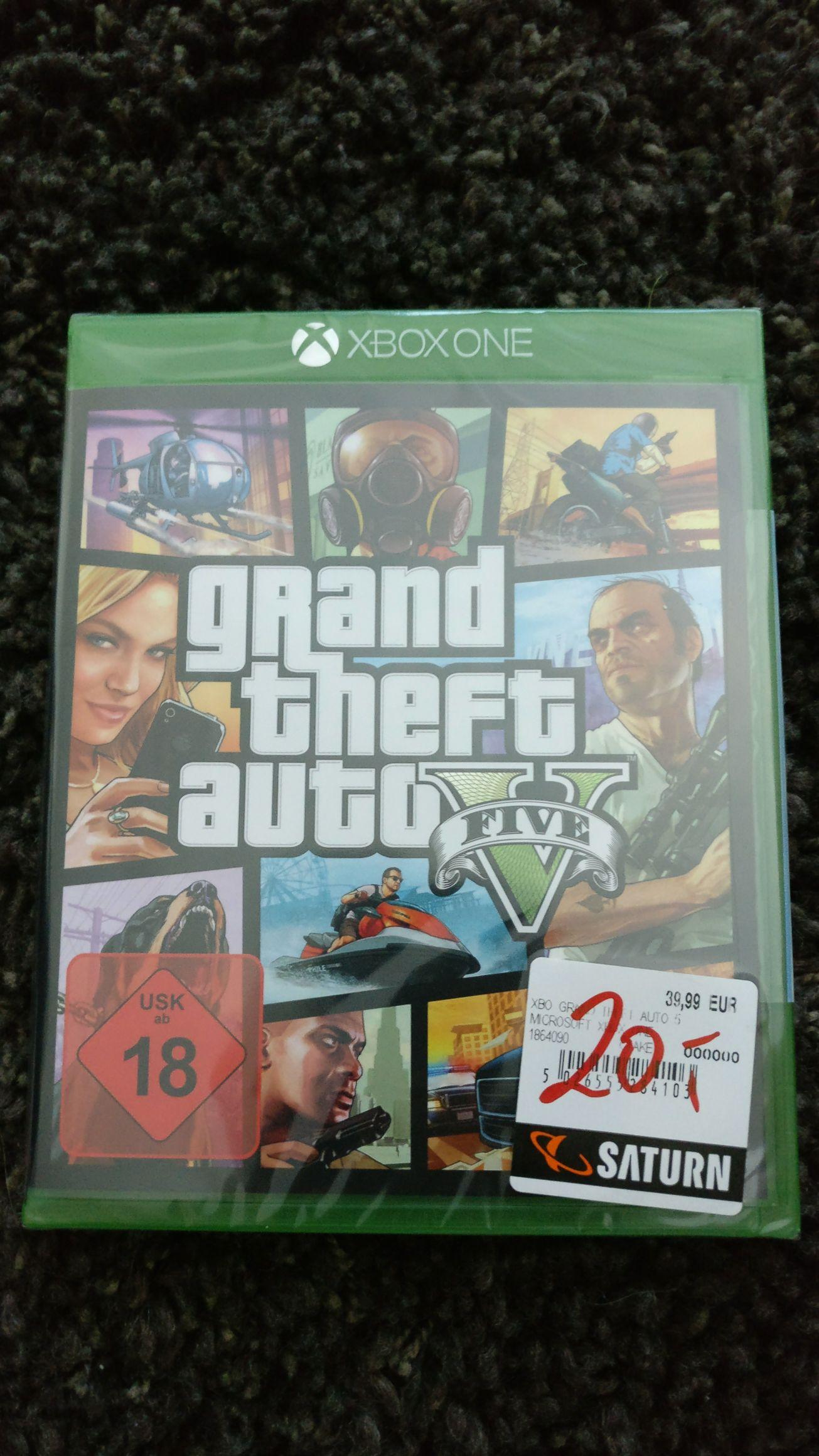 Lokal Saturn Berlin Gesundbrunnen GTA 5 für Xbox one fuer 20€