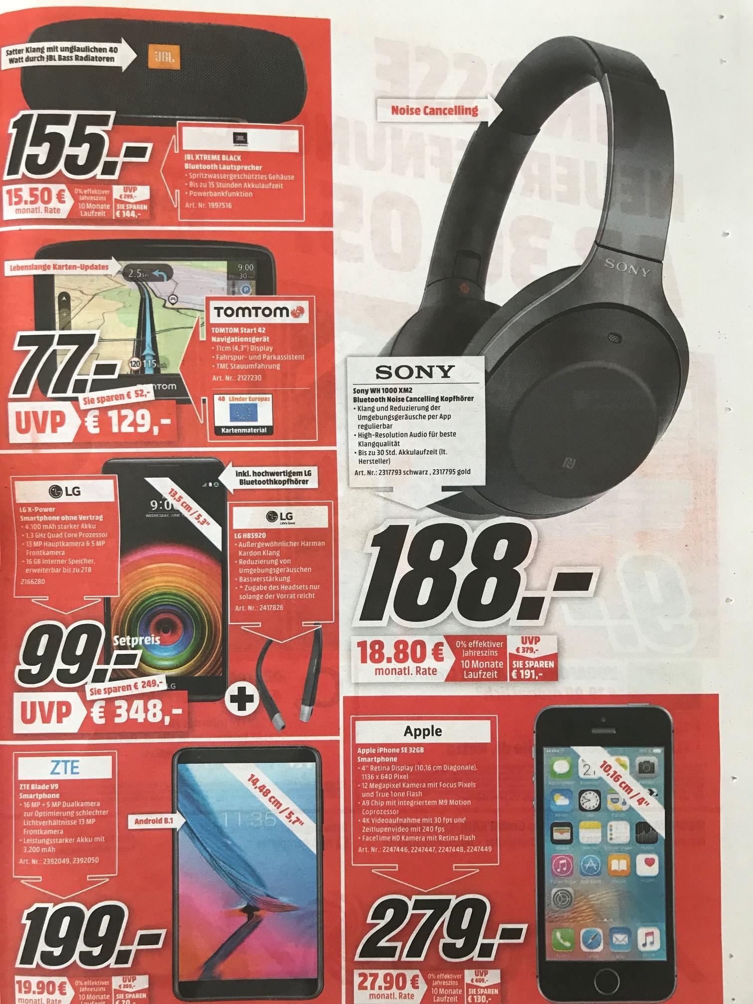 (lokal Köln) Media Markt Köln Chorweiler - Wiedereröffnung - Sony WH 1000 XM2 zum neuen Bestpreis 188€