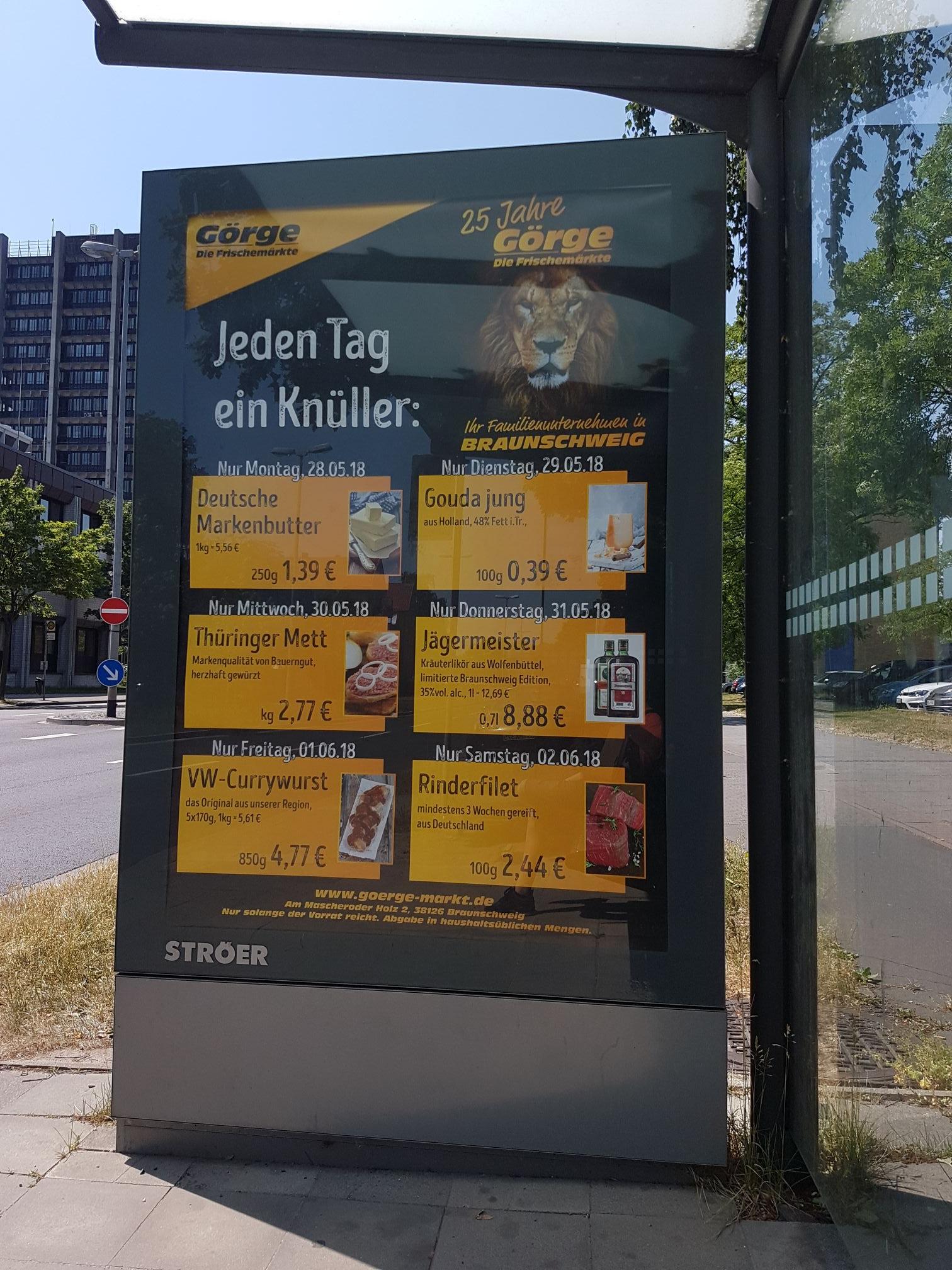 [LOKAL BRAUNSCHWEIG] VW-Currywurst (850g) für 4,77€