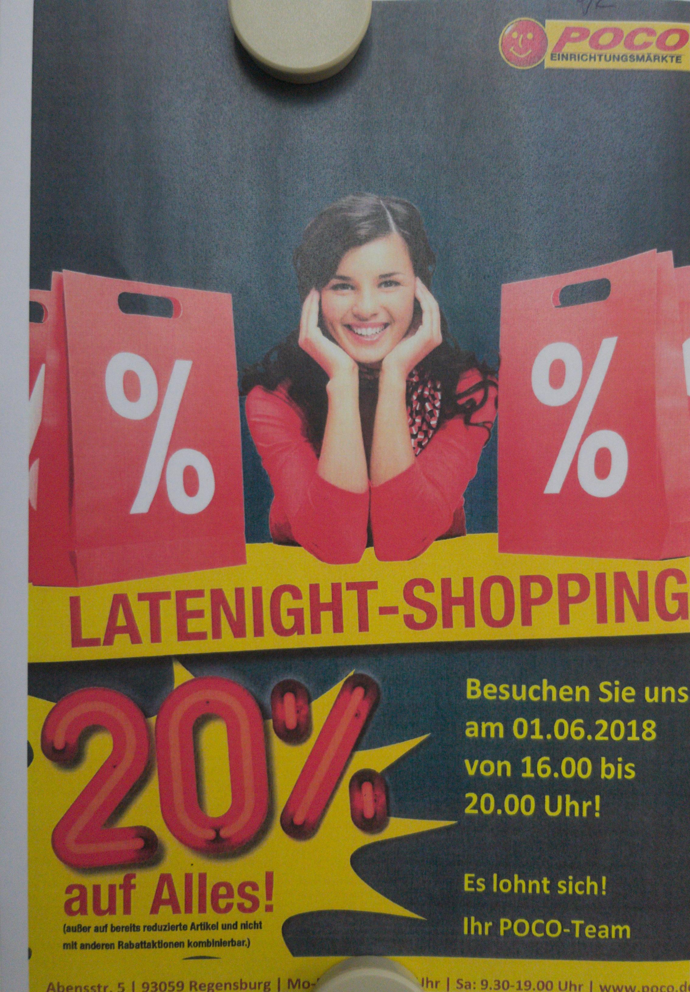 [Lokal Regensburg] POCO 20% auf alles! Am 01.06.2018 (16-20 Uhr)