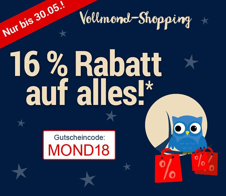 Weltbild - 16% Rabatt-Gutschein bis 30.05.18 - Gutschein-Code MOND18 ab 30 € Bestellwert