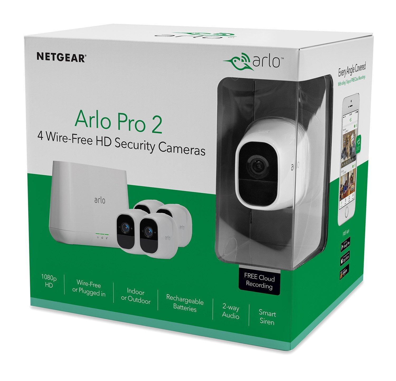 Netgear Arlo Pro 2 VMS4430P-100EUS / 4 Kamera Set