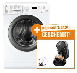 """SATURN-AKTION Ein Geschenk zu jedem Aktionsprodukt z. B. BAUKNECHT """"FWM 7F4"""" Waschmaschine A+++ (7KG) + PHILIPS SENSEO® HD6555/27 versandkostenfrei [SATURN.DE]"""