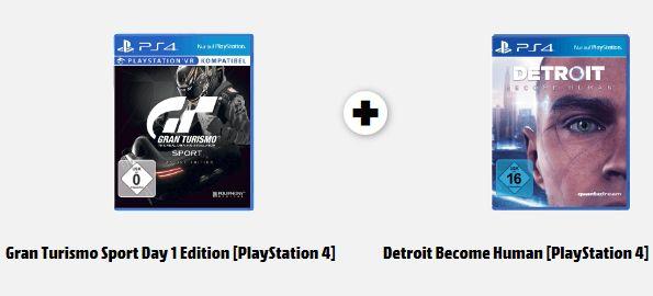 [Mediamarkt] Gran Turismo Sport Day 1 Edition + Detroit Become Human für 67,-€