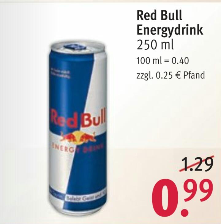 [Rossmann ab 04.06.] Red Bull 250ml Dose für 0,67€ mit Rossmann App