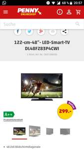 "Penny Markt ab 30.05.- 48""LED-Smart-TV DL48F283P4CWI"
