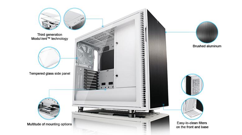 Fractal Design Define R6 White TG, Glasfenster, schallgedämmt für 139,90€