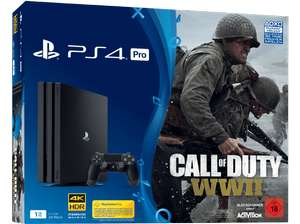 PlayStation 4 Pro 1TB Schwarz + Call of Duty WWII + That's You Voucher + Detroit Become Human