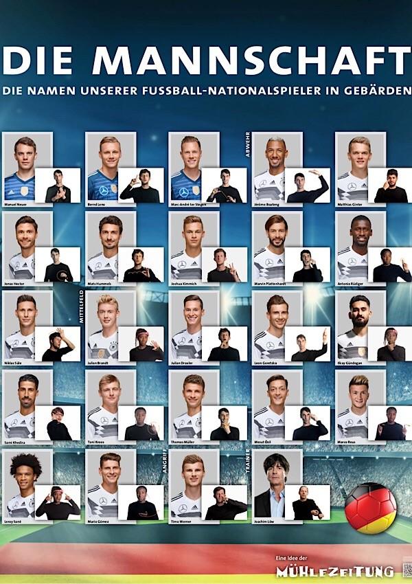 [Aktion Mensch] Gratis DIN A1 Poster der deutschen Nationalmannschaft mit Gebärden
