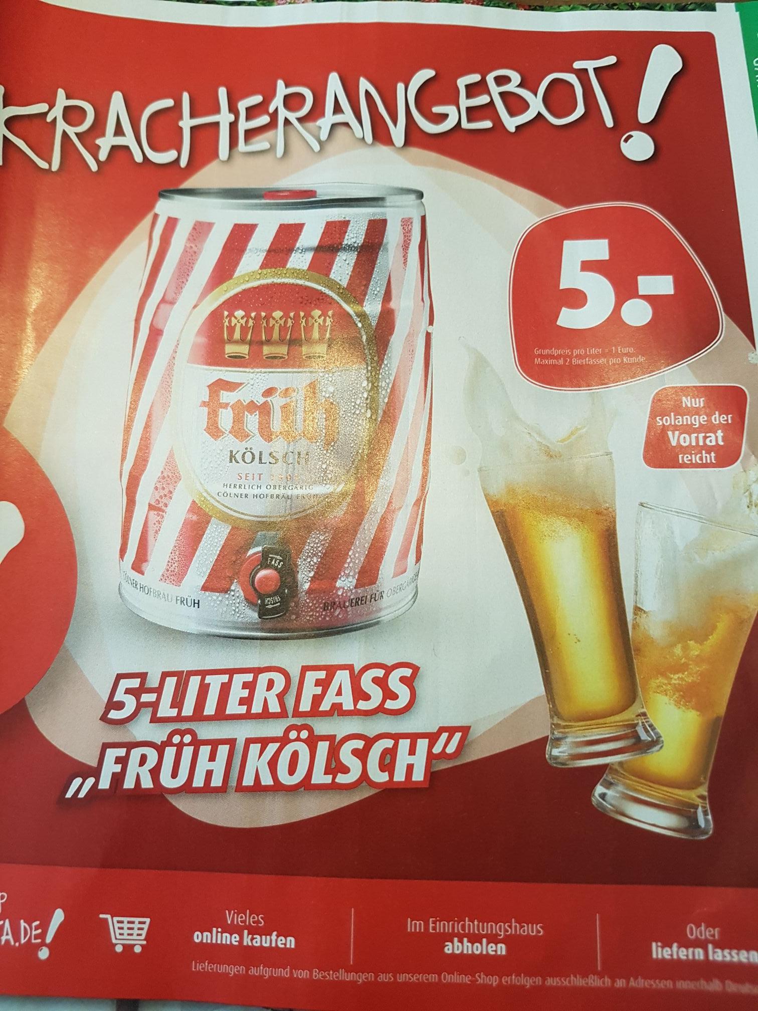 5 Liter Fass Früh Kölsch  für 5€