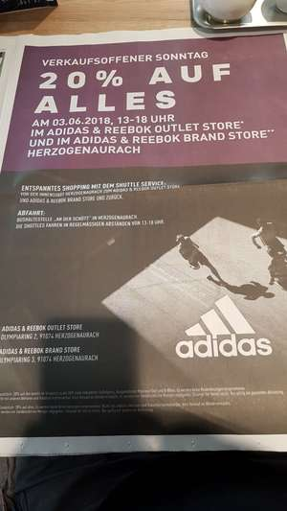 20% auf alles! Adidas Outlet