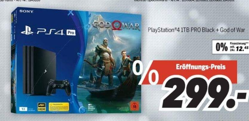 [Lokal] Playstation 4 PRO 1TB + God of War Bundle