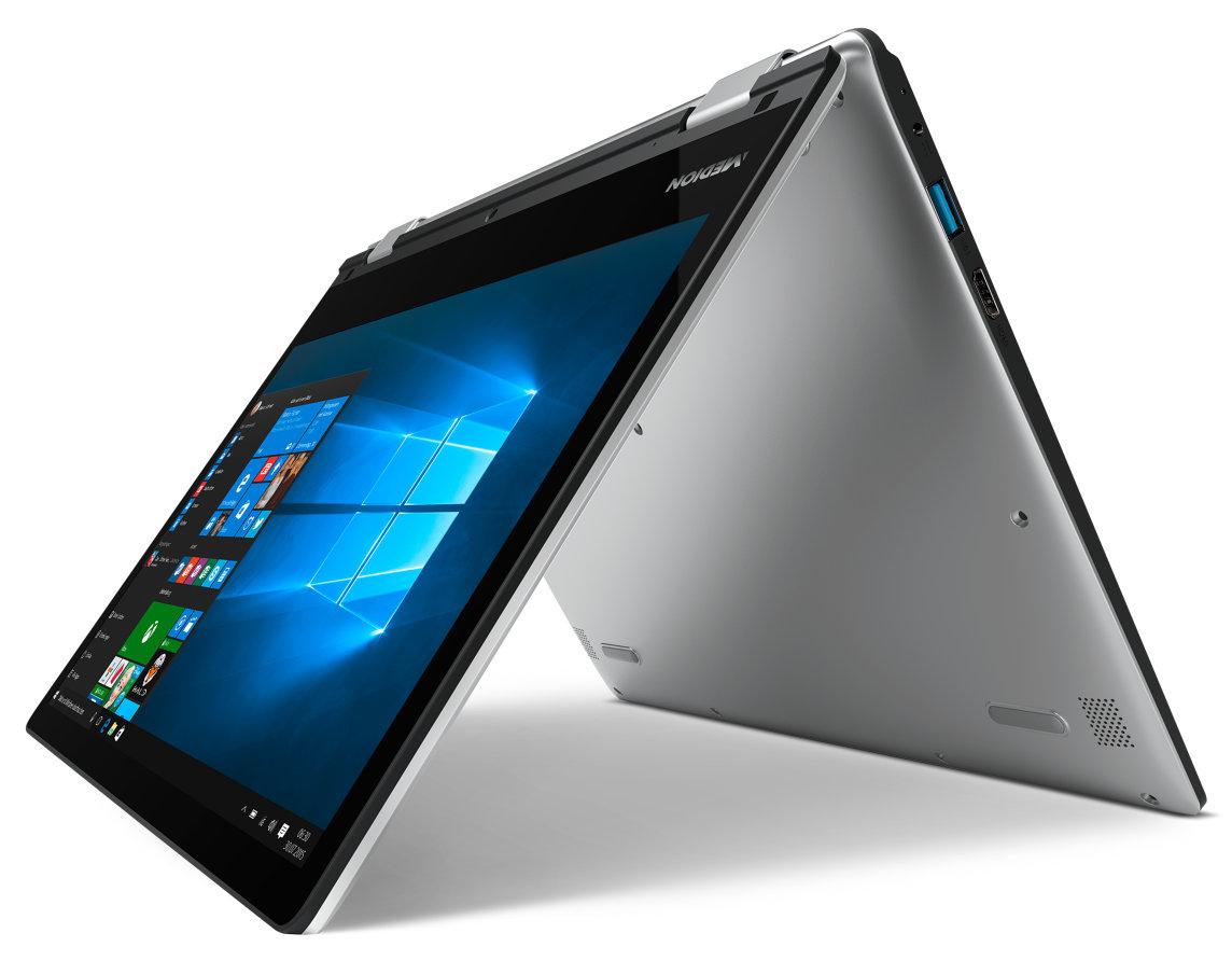 "[Medion] MEDION AKOYA E2228T, Intel Atom x5-Z8350, Windows 10 Home, 29,5 cm (11,6"") Full HD Display, 4 GB RAM, 64 GB Flash, Touch Notebook (B-Ware)"
