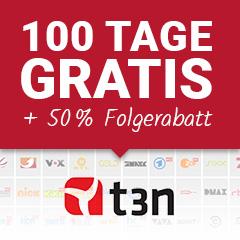 100 Tage Save.TV XL kostenlos testen, danach 50% Rabatt