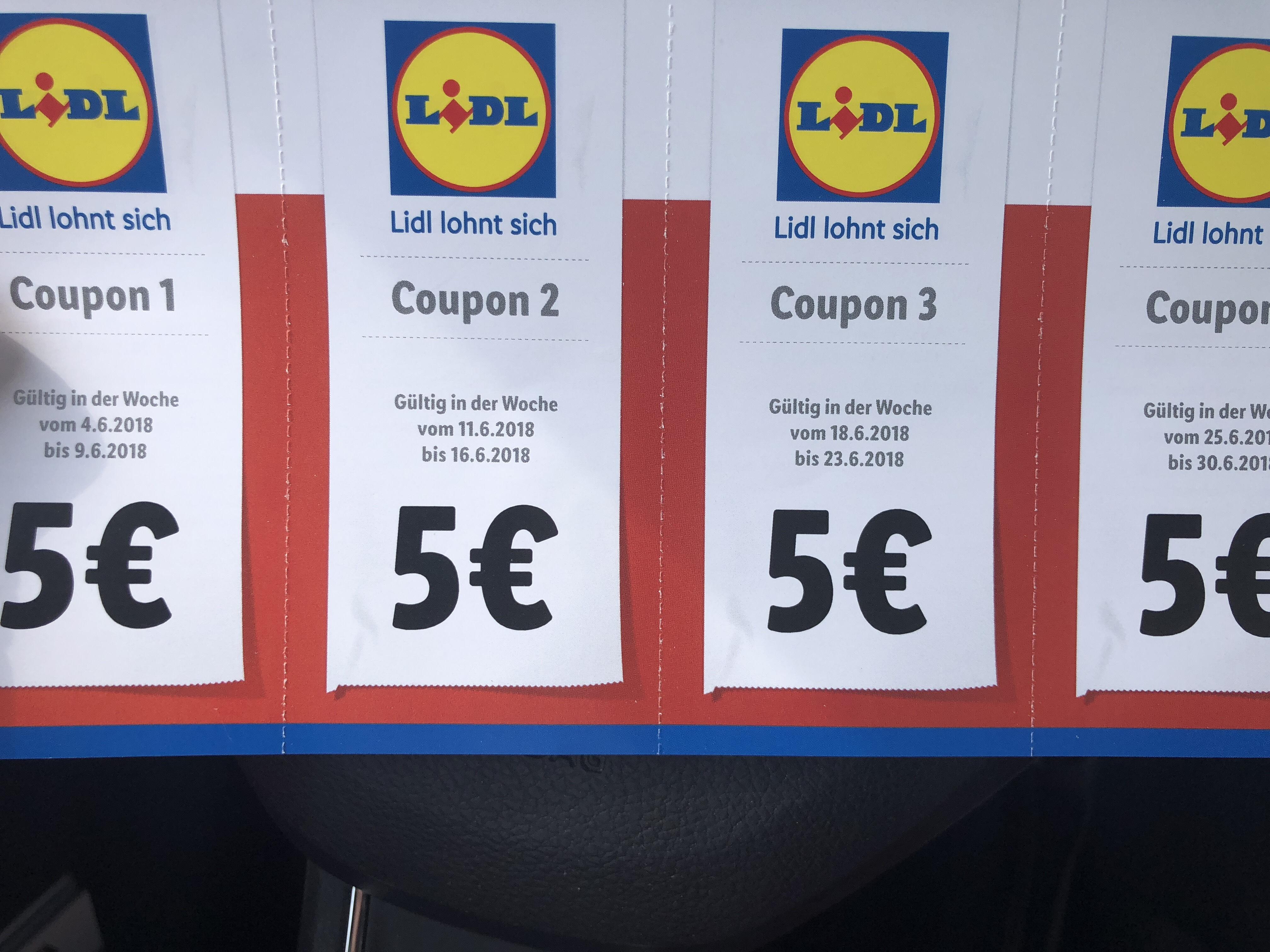 Lidl lokal Meißen. 5 Euro Rabatt ab einem Einksuf von 40 Euro . Jede Woche einer einlösbar.