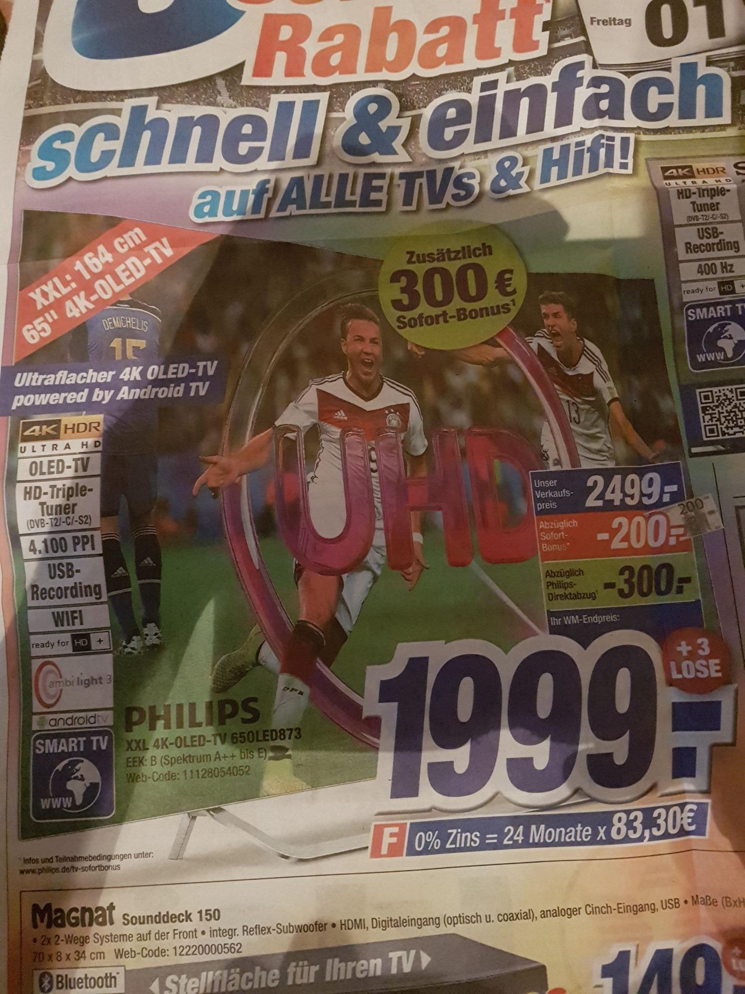[Lokal] Philips 65 Oled 873 im Expert Klein Koblenz