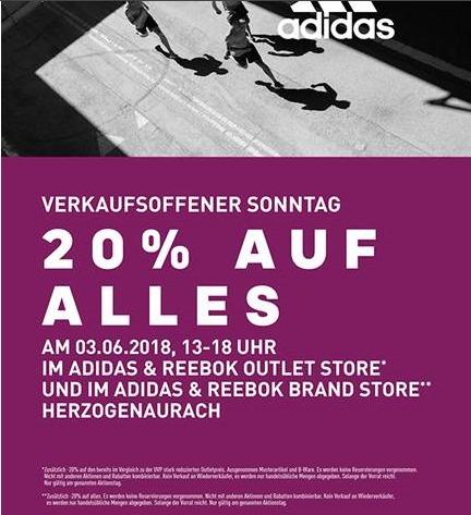 Herzogenaurach - Adidas & Reebok Outlet & Brand Store am verkaufsoffenen Sonntag (03.06.2018)
