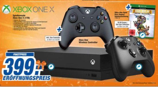 [Offline Expert Technikmarkt Springe, Garbsen,Rinteln,Laatzen,Langenhagen,Stadthagen,Neustadt,Wunstorf und Nienburg] Xbox One X+ 2.Controller + Rare Replay für 399,-€