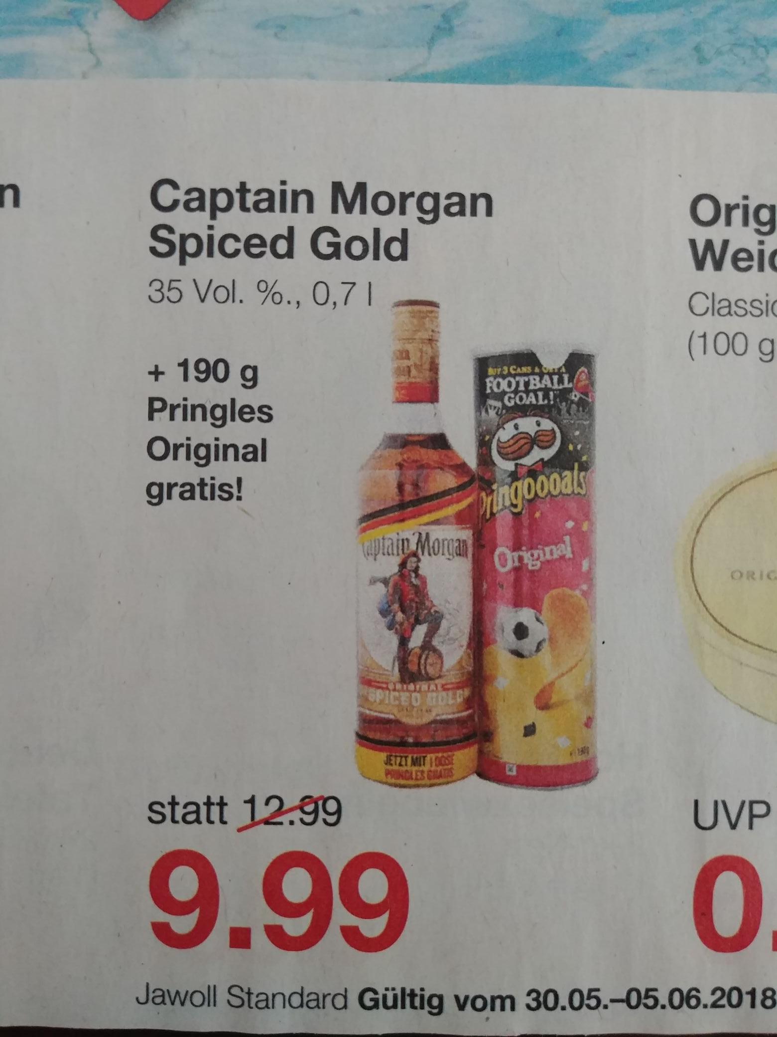 [Lokal] Jawoll Captain Morgan 0,7l + Original Pringles 190g