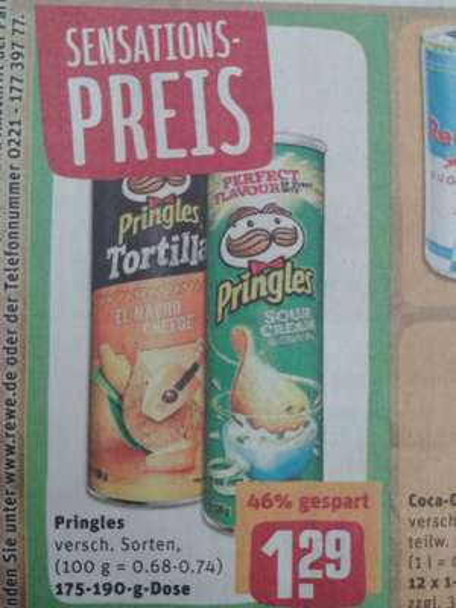 [Lokal Rewe] Pringles verschiedene Sorten