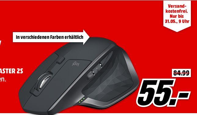 Logitech MX Master 2S kabellose Bluetooth, Funk-Maus, 4000 dpi in 3 Farben für je 55,-€ [Mediamarkt]