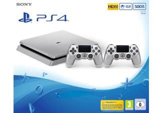 SONY PlayStation 4 500GB Slim Silber + 2. Controller + FIFA 18 [Saturn]