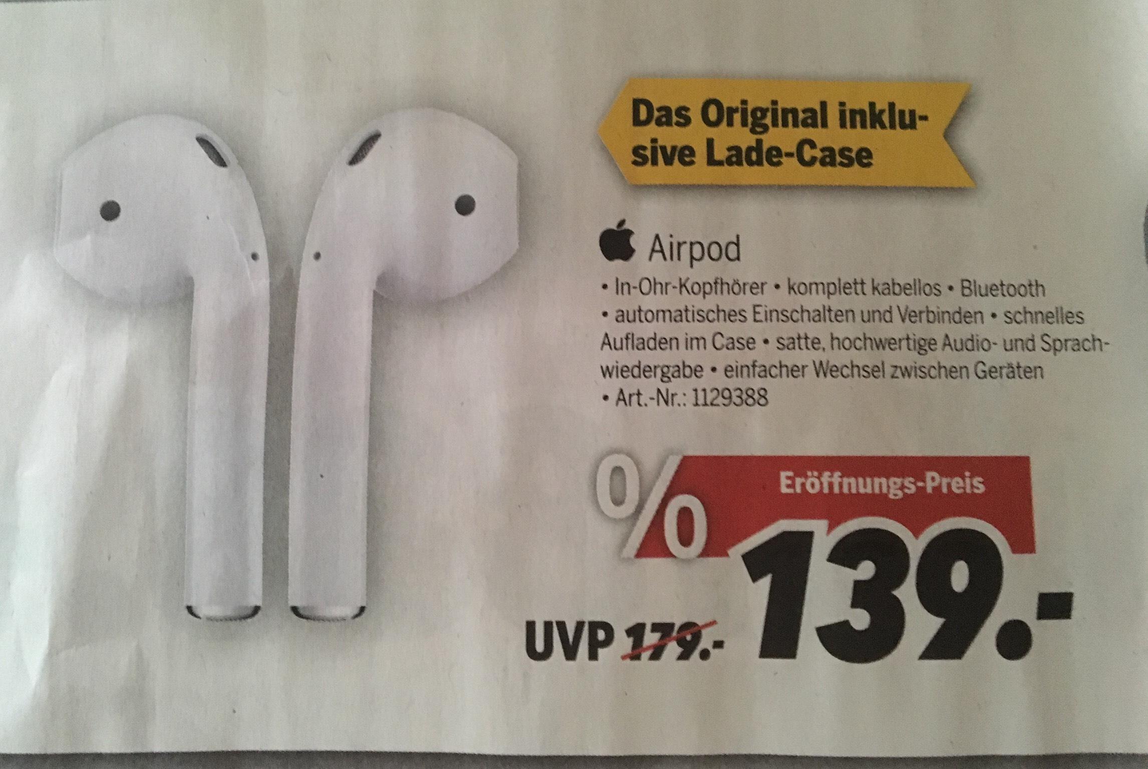 Apple AirPod Lokal Medimax(Hildesheim)