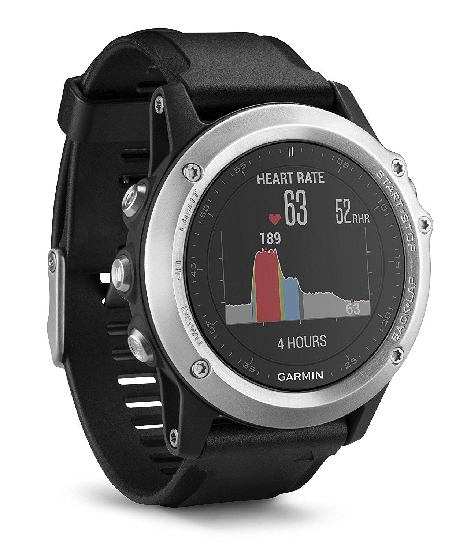 GARMIN fenix 3 HR, GPS Multisportuhr, 238 mm, Schwarz/Silber (mal wieder) für 249€ [Saturn]