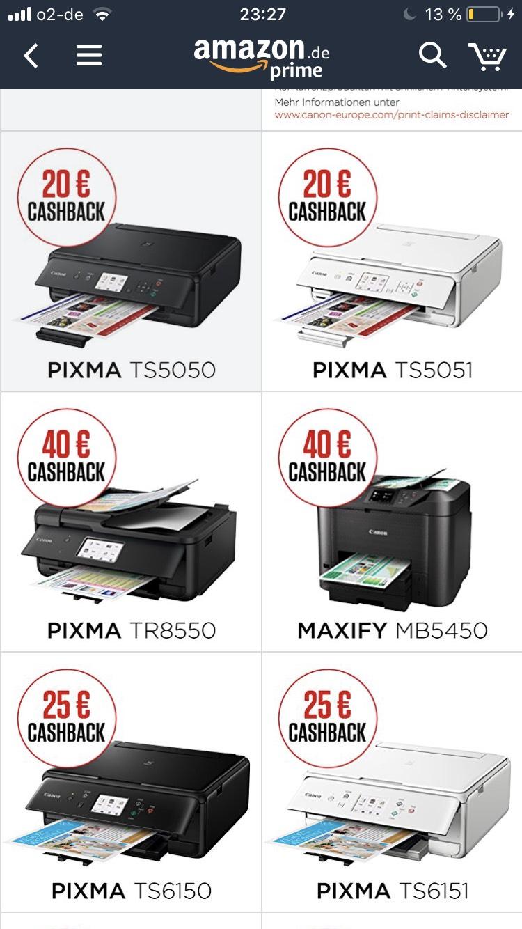 Canon PIXMA TS5050 Cashback