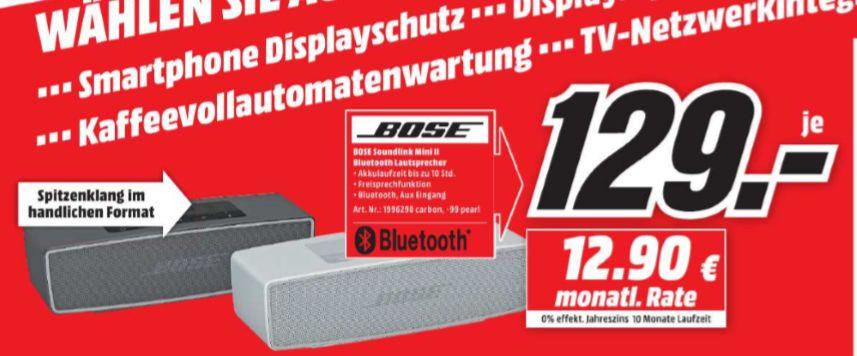 [Regional Mediamarkt Paderborn] BOSE SoundLink Mini Bluetooth speaker II, Bluetooth Lautsprecher in 2 Farben für je 129,-€