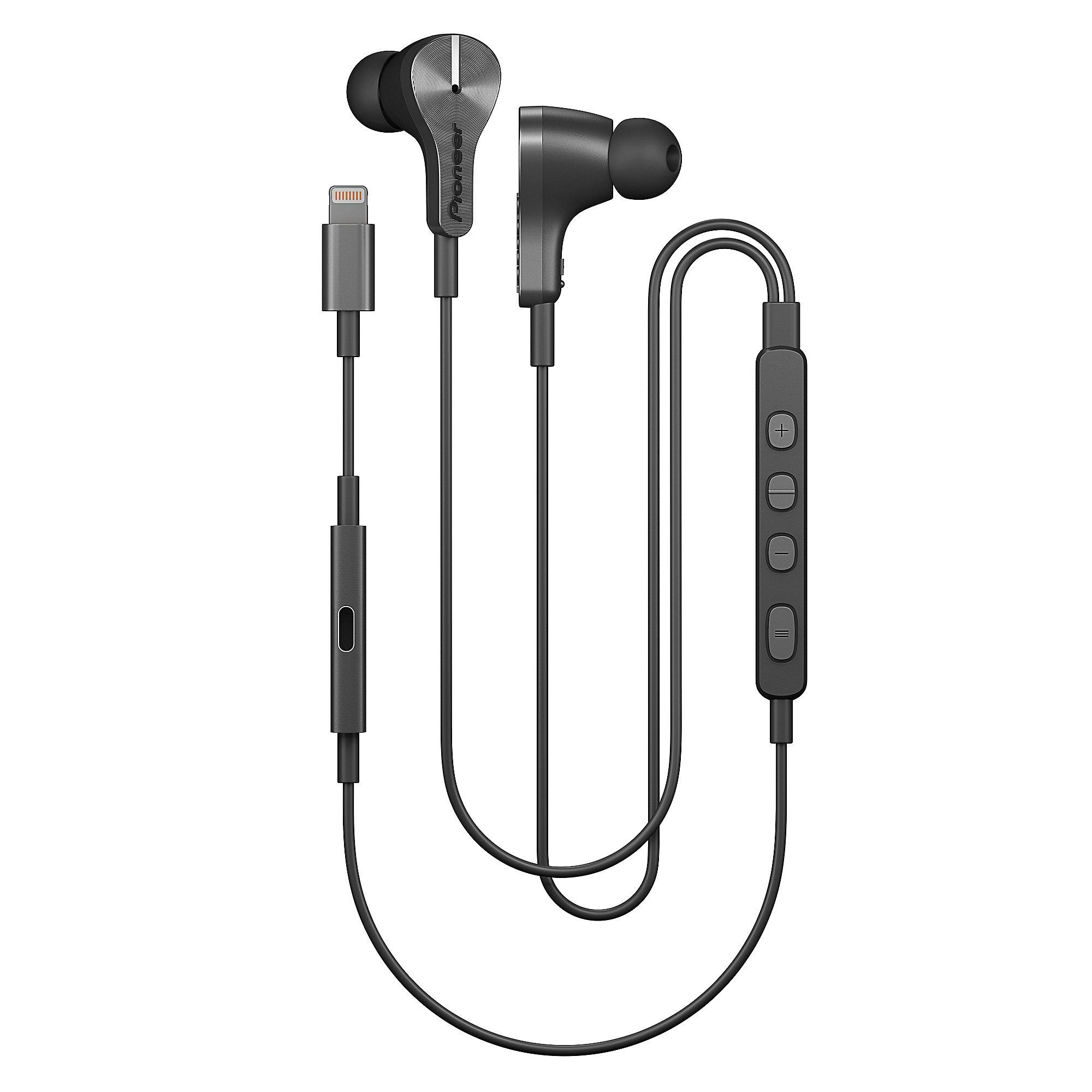 [cyberport] Pioneer SE-LTC5R-S - Kopfhörer mit Lightninganschluss für iOS-Geräte (Freisprech- und gleichzeitige Ladefunktion, Noise Cancelling, Auto Pause, Smart Button) in graphite