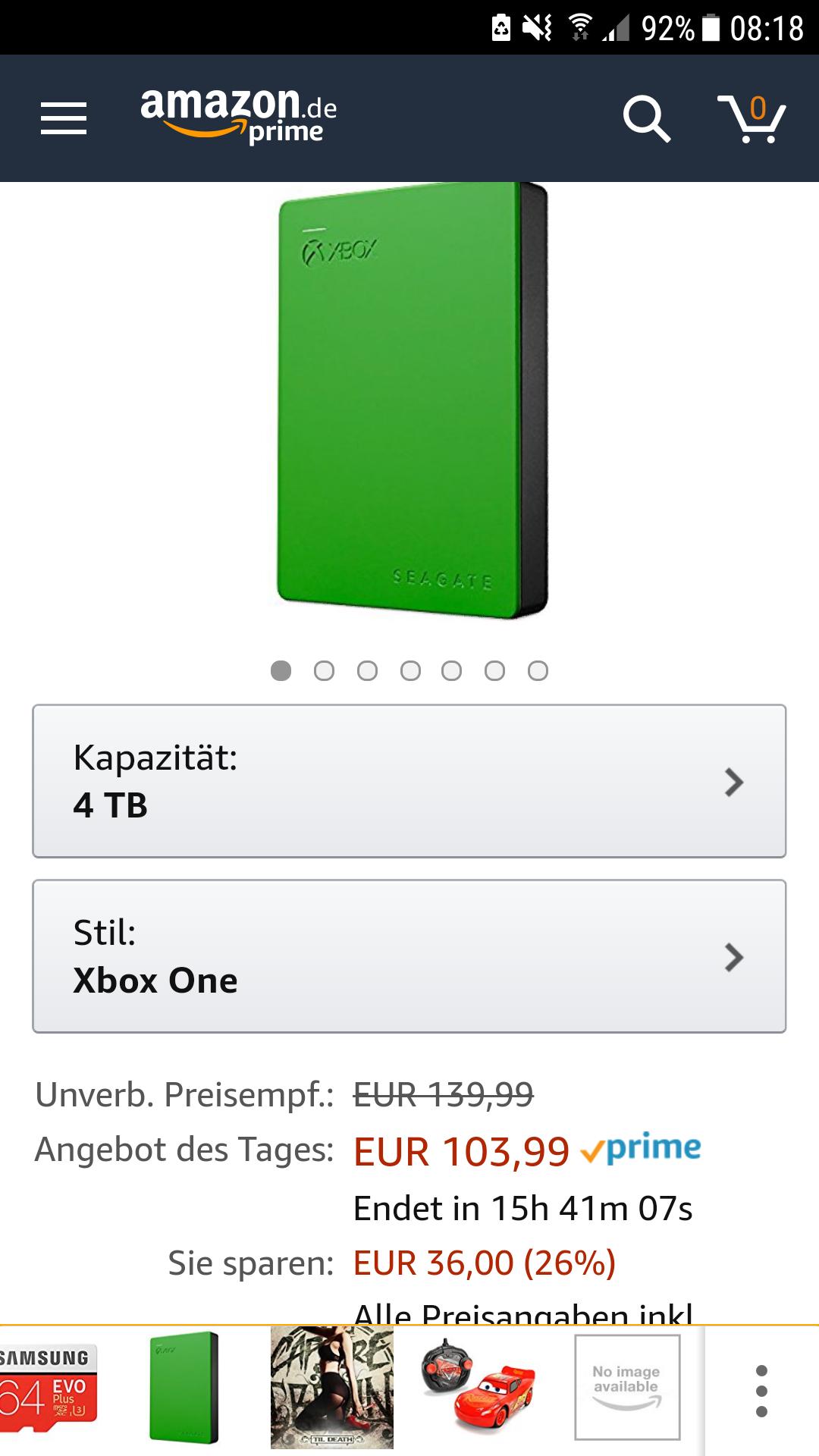 Seagate Festplatte 4 TB für xbox one