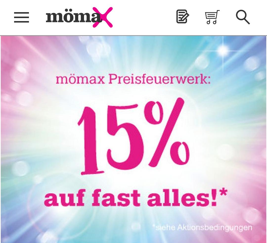 [Mömax] 15% auf FAST ALLES im Onlineshop, nur heute!