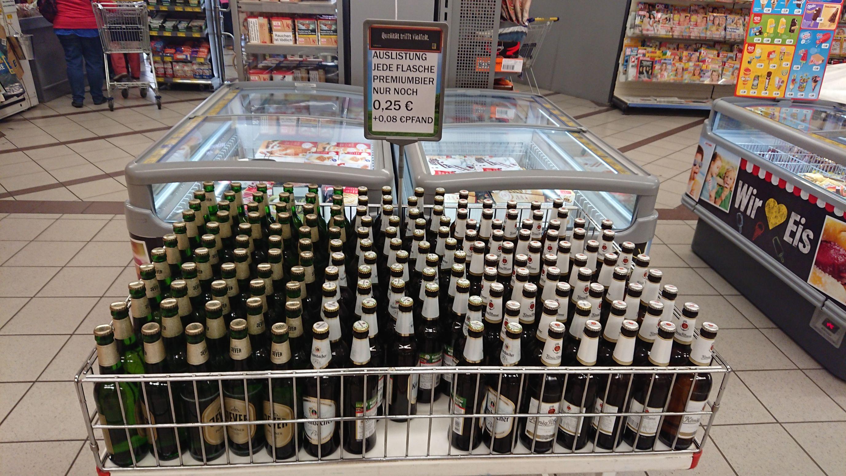 [lokal Flensburg] diverse Bier (Jever, Köpi, Krombacher,...) bei Edeka Peterson Angelburger Straße