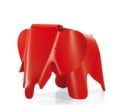 10% Rabatt auf Design-Ikonen von vitra bei erkmann, z.B. Hocker Eames Elephant Classic Red