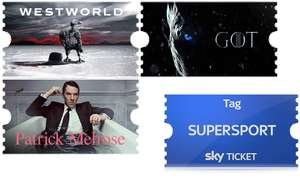 3,8 Monate Sky Ticket Entertainment + 1 Supersport Tagesticket