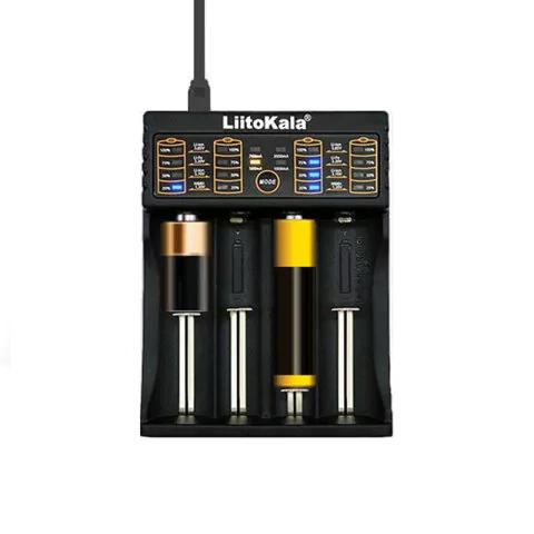 LiitoKala LII-402 - Ladegerät für Li-ion / 18650 / 18490 / 18350 / 17670 / 17500 / 16340 ( RCR123 ) / 14500 / 10440 *PREISUPDATE*
