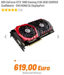 MSI GeForce GTX 1080 Gaming X 8G - 0% Finanzierung