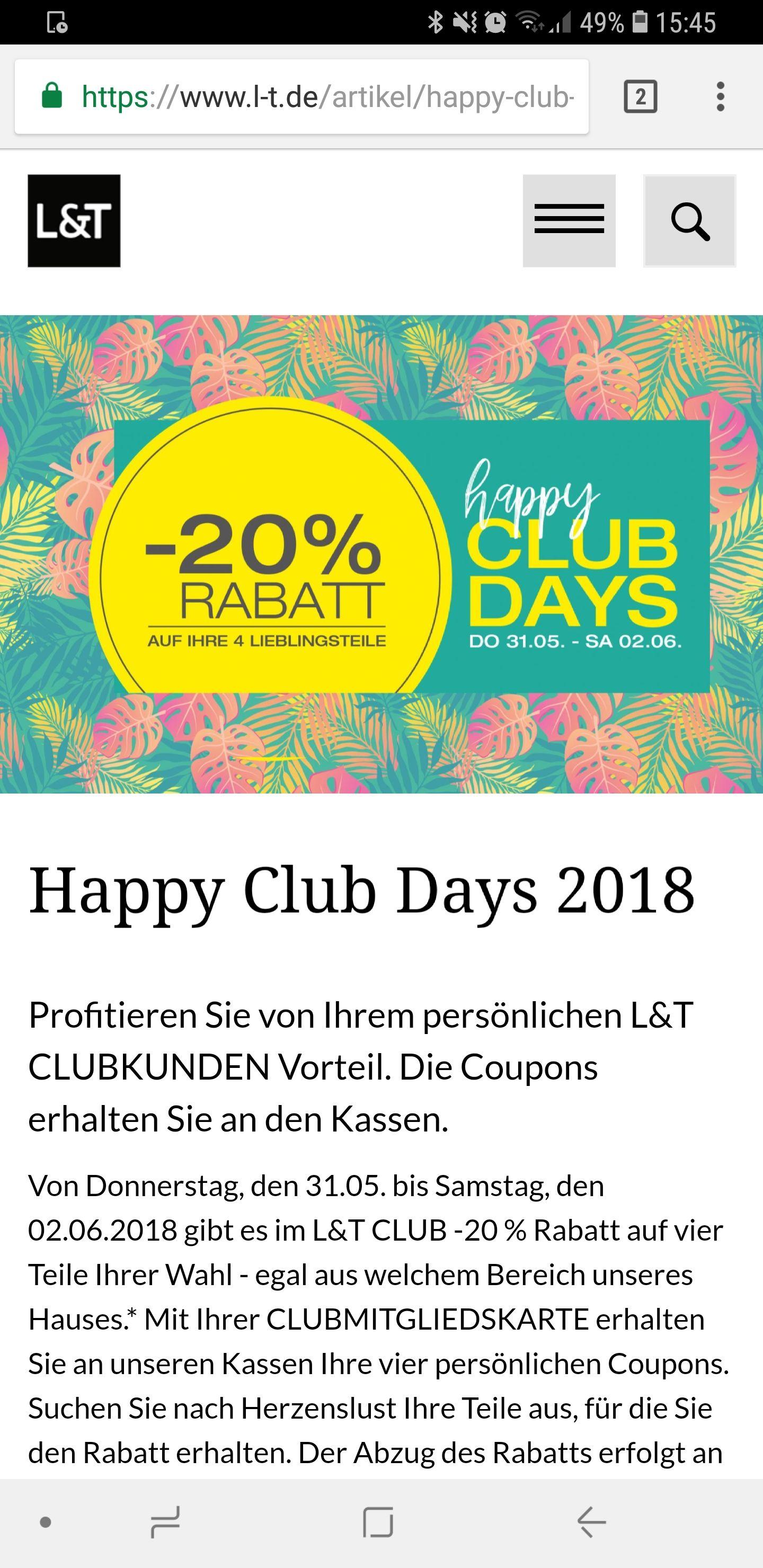 [lokal Osnabrück] -20% L&T Kaufhaus auf 4 beliebige Teile
