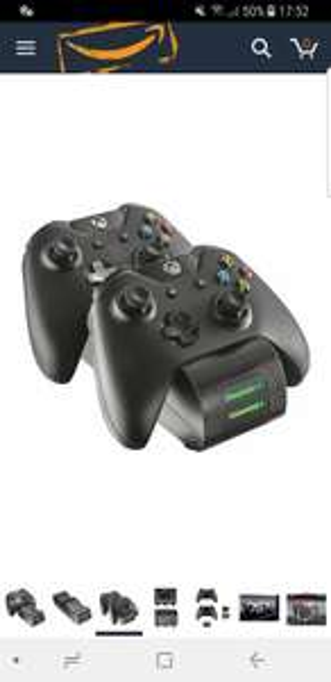 Trust GXT 247 Xbox One Controller Ladestation inkl. Akku (2-fach) schwarz