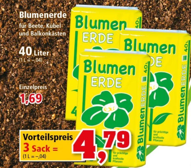 120l Blumenerde für 4,79€ bei Thomas Philipps ab 04.06.2018