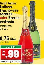 [PHILIPPS] Erdbeerfruchtweincocktail oder Beerenperlwein 0.75 l unter 1 EUR