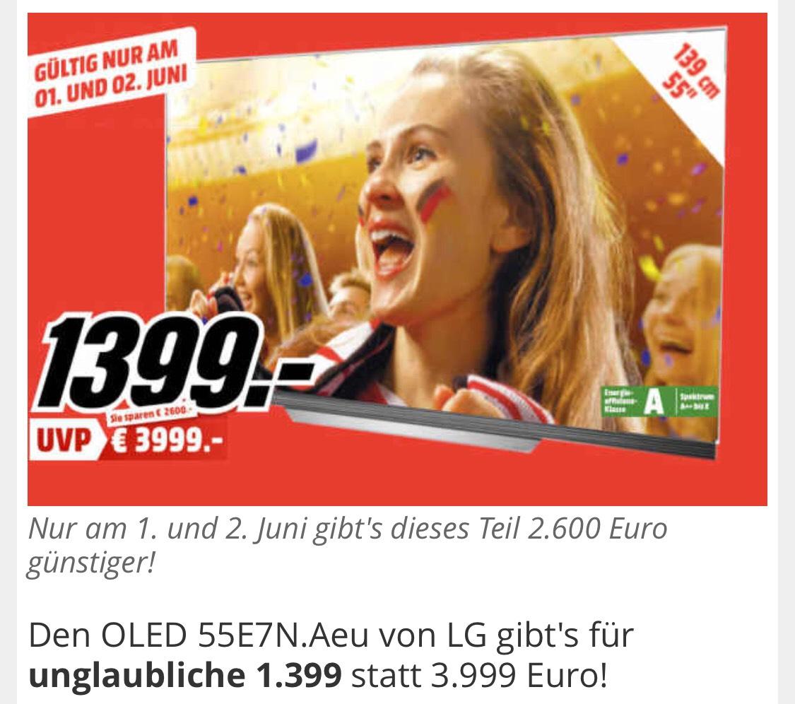 [Lokal] Mediamarkt Frankfurt/Main NWZ - LG OLED 55E7N.Aeu