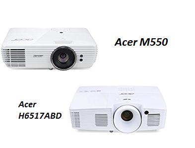 [amazon]  Acer H6517ABD DLP Projektor (Full HD, 3200 ANSI, Kontrast 20.000:1, 3D) für 449,99€ (PVG: 540,11€) ODER Acer M550 DLP 4K-UHD Projektor (WQXGA+ nativ, 2900 ANSI, 4K Upscaling, Pixel Shift) für 1.299,99€ (PVG: 1.487,49€)