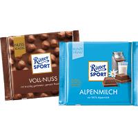 3x Ritter Sport Alpenmilch 100g für 1,57€ (=0,52€/Tafel) bei Globus /// 3x RS Voll-Nuss für 2,47€ (=0,82€/Tafel) bei HIT [bis Samstag]