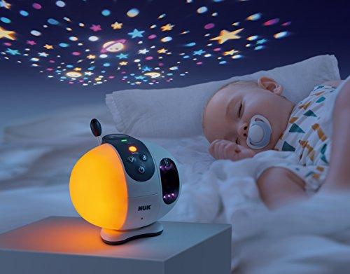 NUK Eco Control+ Video Max 410, digitales Babyphone mit Kamera, Sternenprojektion, frei von hochfrequenter Strahlung im Eco-Mode