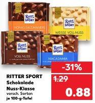 [Kaufland ab 11.06.] 3x Tafeln Ritter Sport Nussklasse Voll-Nuss für 2,14, Preis pro Stück 0,71€