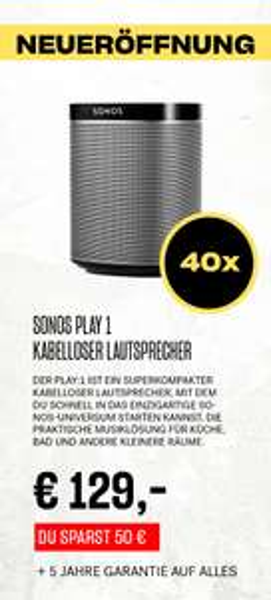 Lokal Bonn - Eröffnungsangebote HiFi Klubben Heos; Dali, Sonos, Argon, Sony