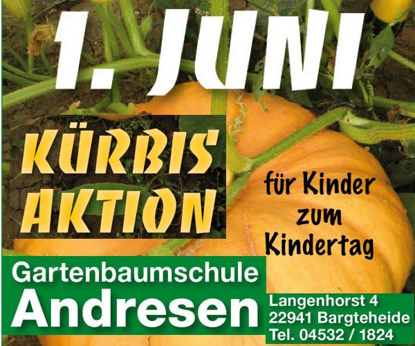 (LOKAL) kostenlose Kürbispflanze bei der Kürbisaktion in der Gartenbaumschule Andresen (22941 Bargteheide)