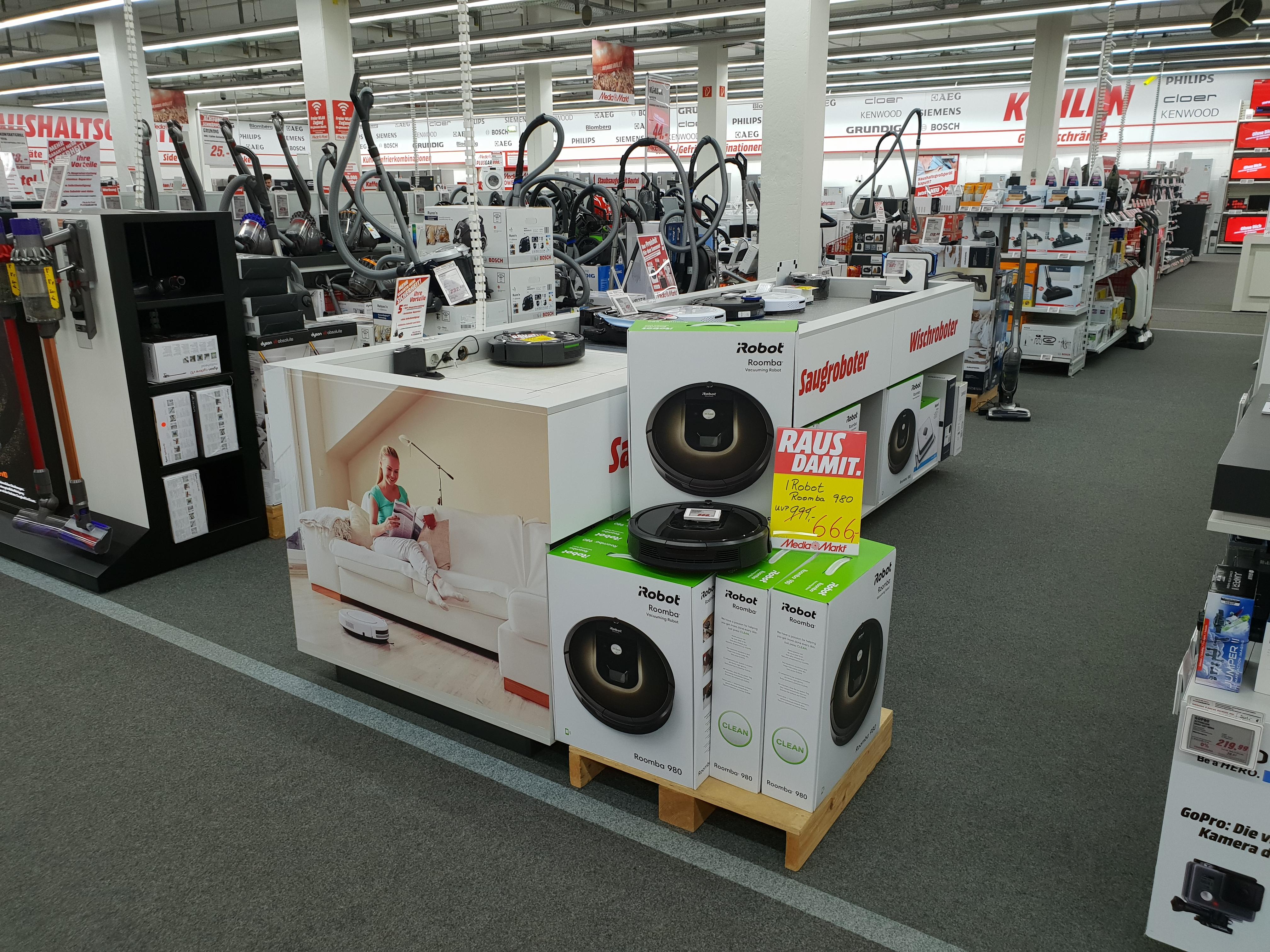 iRobot Roomba 980 für 666,- euro anstatt 799,- (Mediamarkt Nordhorn) Bundesweiter Versand möglich